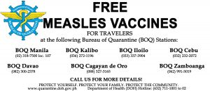 Advisory on Free Measles Vaccination at BOQ Stations